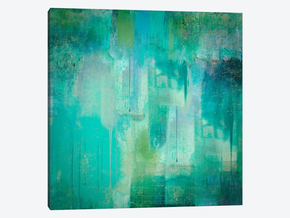 Aqua Circumstance I by Color Bakery 1-piece Art Print
