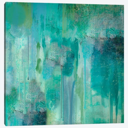 Aqua Circumstance II Canvas Print #CBY112} by Color Bakery Canvas Art