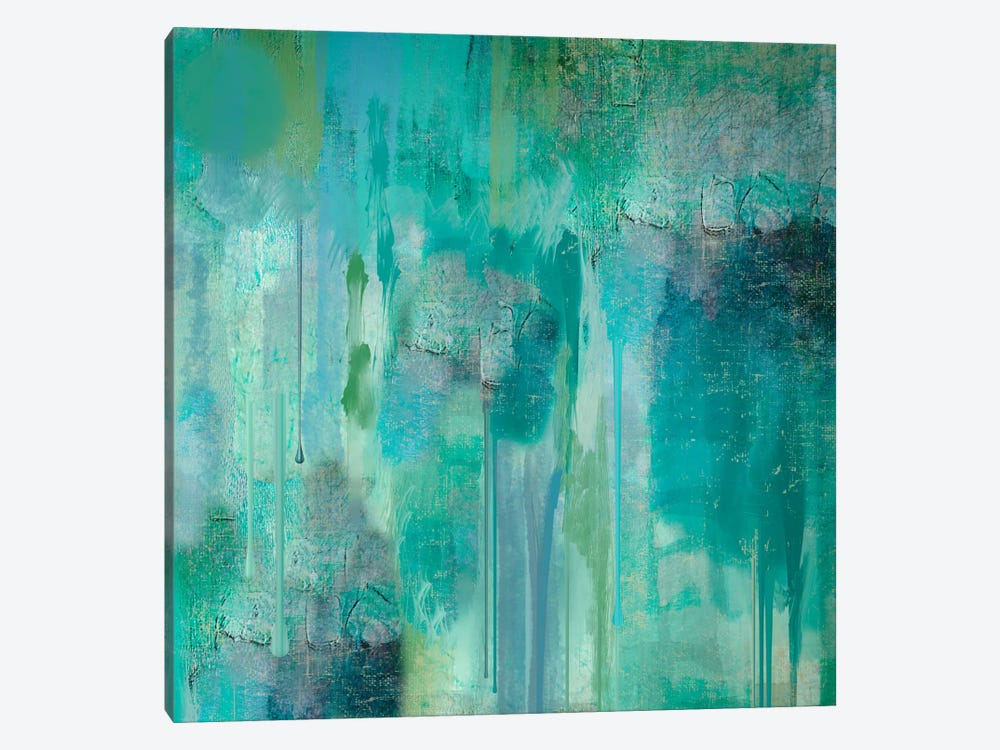 Aqua Circumstance II by Color Bakery 1-piece Canvas Artwork