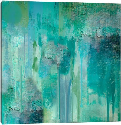 Aqua Circumstance II Canvas Art Print