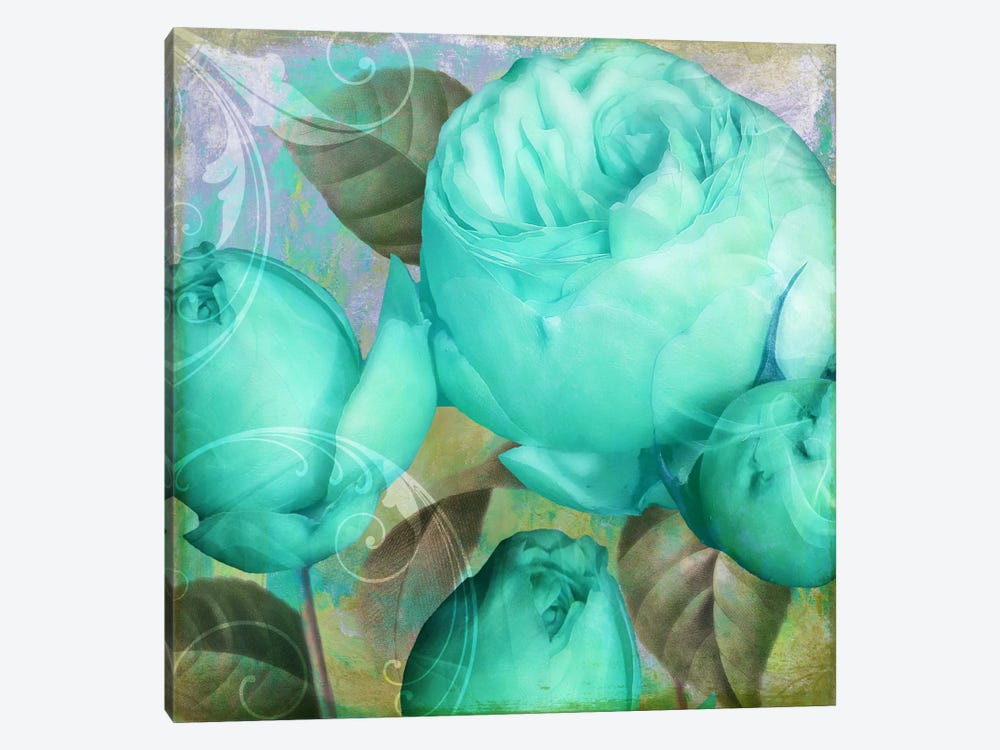 Aqua Rose II by Color Bakery 1-piece Canvas Artwork