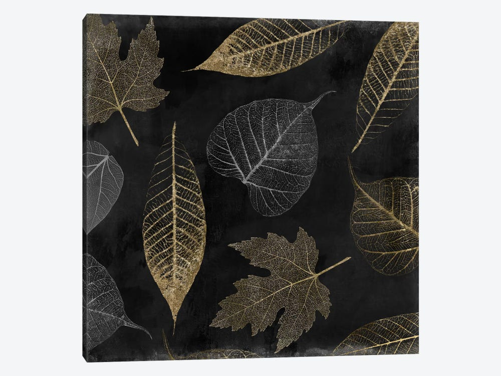 Autumn Gold Black Background by Color Bakery 1-piece Canvas Wall Art