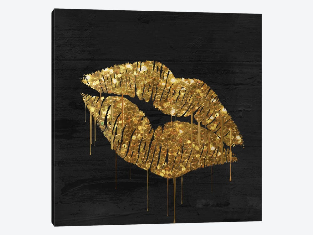 Golden Lips by Color Bakery 1-piece Canvas Wall Art