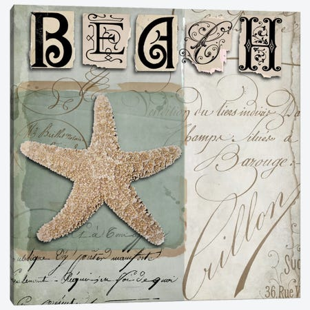 Beach Book II Canvas Print #CBY132} by Color Bakery Canvas Art