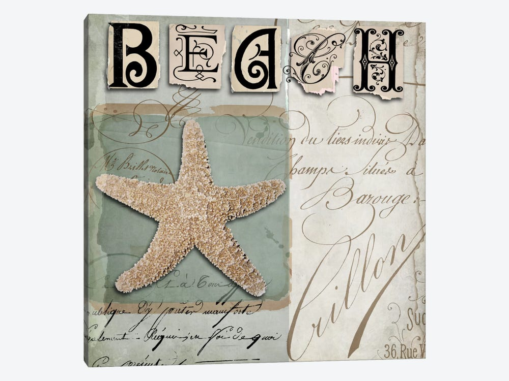 Beach Book II by Color Bakery 1-piece Canvas Artwork