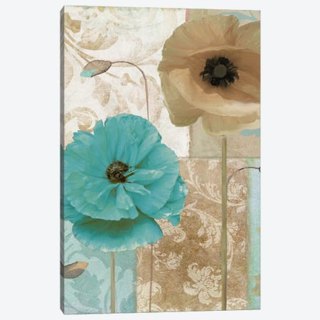 Beach Poppies I Canvas Print #CBY144} by Color Bakery Canvas Artwork