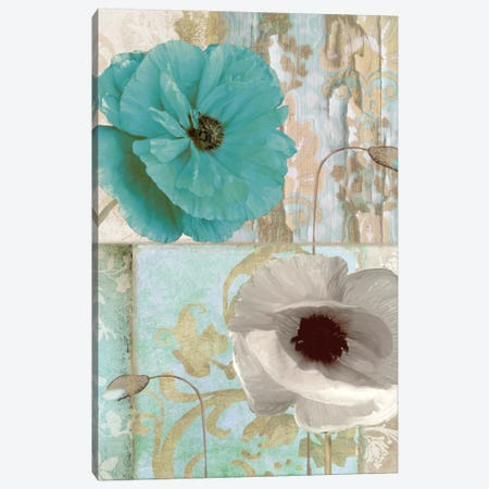 Beach Poppies II Canvas Print #CBY145} by Color Bakery Canvas Artwork