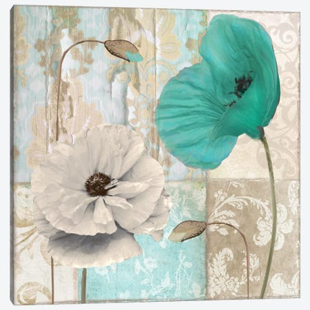 Beach Poppies III Canvas Print #CBY146} by Color Bakery Canvas Wall Art