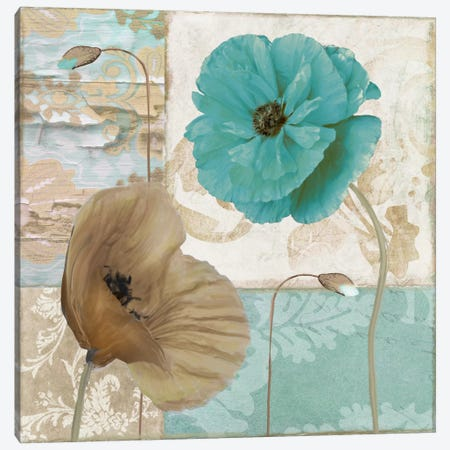 Beach Poppies IV Canvas Print #CBY147} by Color Bakery Canvas Wall Art