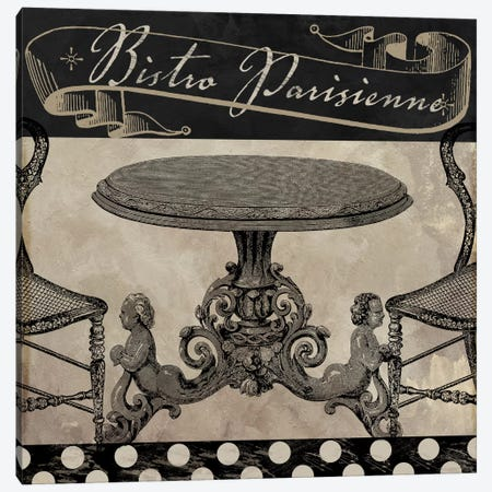 Bistro Parisienne I Canvas Print #CBY158} by Color Bakery Canvas Wall Art