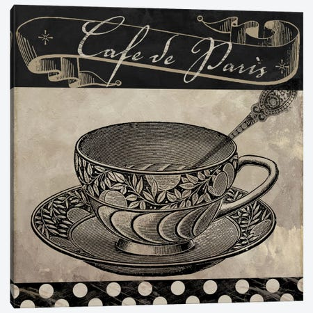 Bistro Parisienne IV Canvas Print #CBY161} by Color Bakery Canvas Art Print