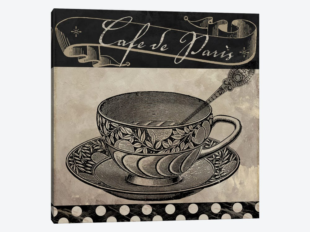 Bistro Parisienne IV 1-piece Canvas Wall Art