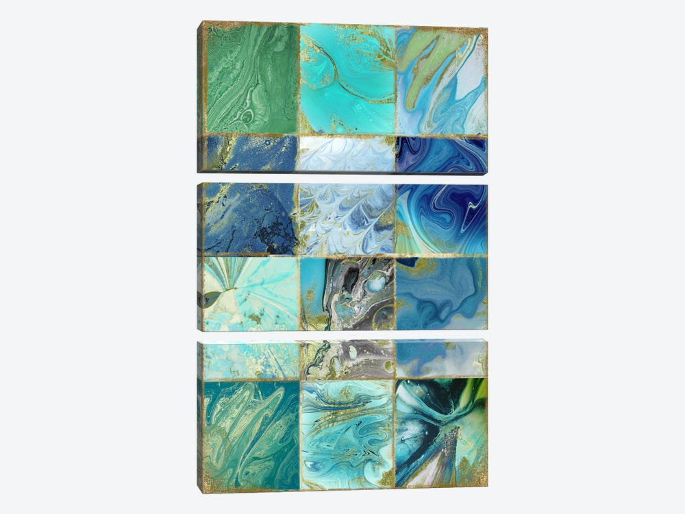 Blue Earth by Color Bakery 3-piece Canvas Print