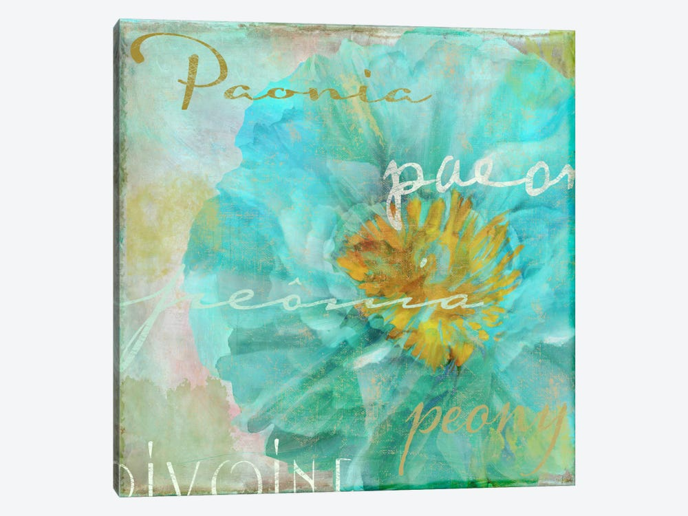Blue Peony Light by Color Bakery 1-piece Canvas Art