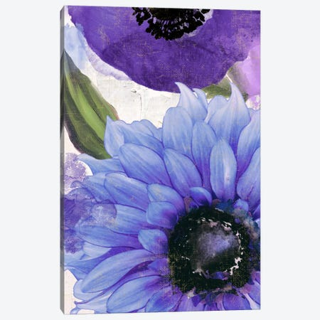 Blue Then Yellow I Canvas Print #CBY170} by Color Bakery Canvas Wall Art