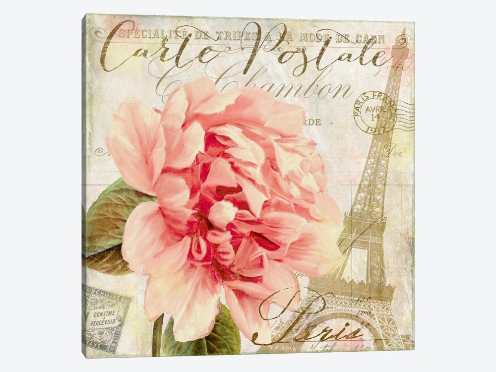 Bonjour I by Color Bakery 1-piece Canvas Wall Art