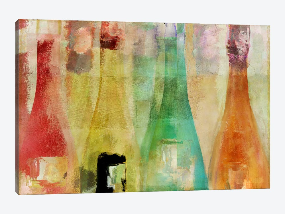 Bouteilles I by Color Bakery 1-piece Canvas Wall Art