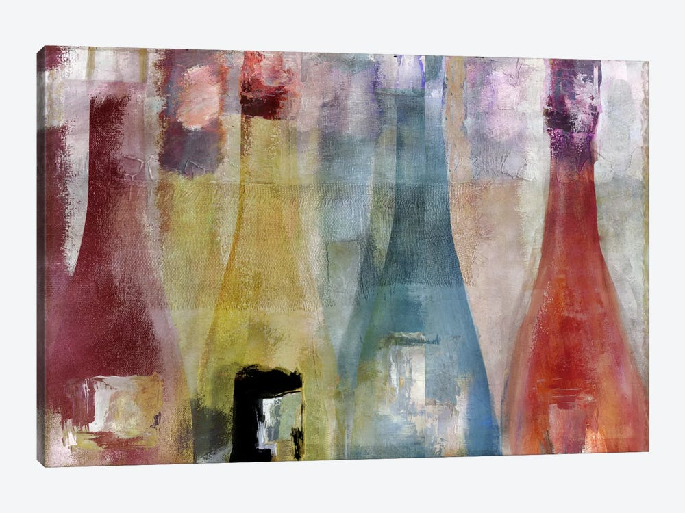 Bouteilles II by Color Bakery 1-piece Canvas Wall Art