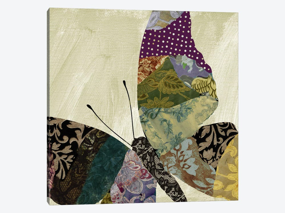 Butterfly Brocade I 1-piece Canvas Artwork