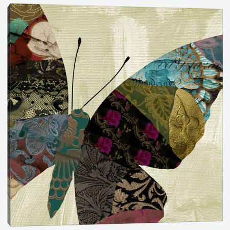 Butterfly Brocade IV Canvas Print #CBY199} by Color Bakery Canvas Artwork