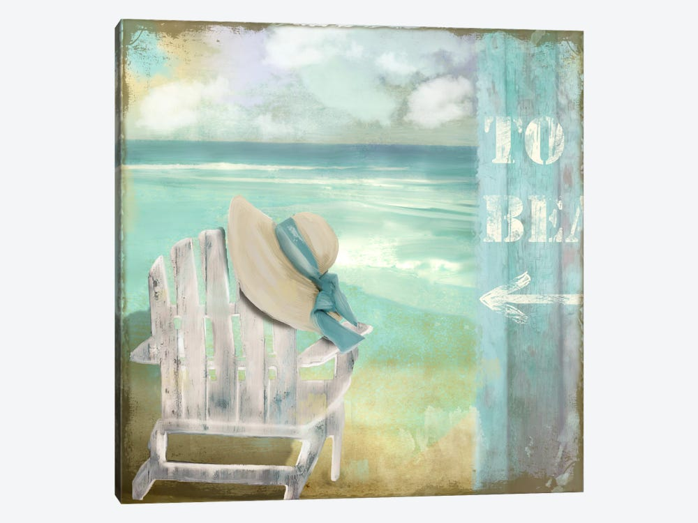 By The Sea I by Color Bakery 1-piece Canvas Print