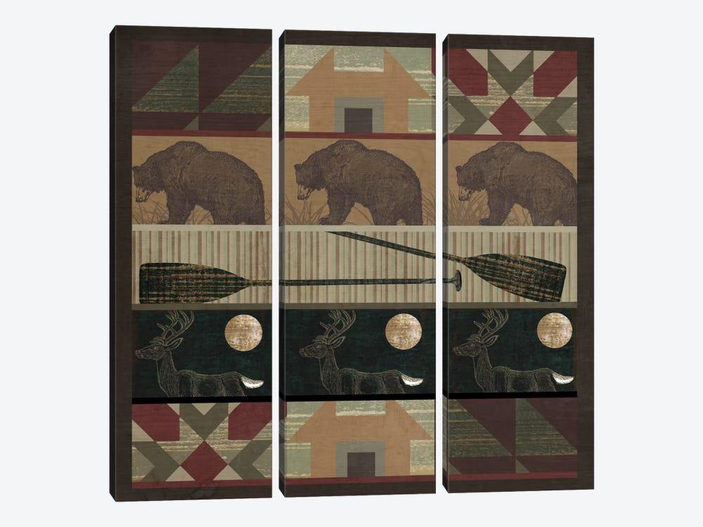 Cabin Fever by Color Bakery 3-piece Art Print