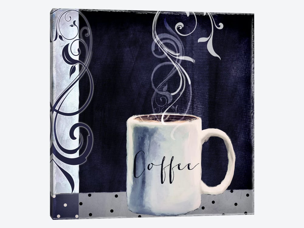 Cafe Blue I by Color Bakery 1-piece Canvas Artwork