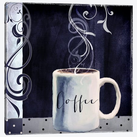Cafe Blue I Canvas Print #CBY207} by Color Bakery Canvas Print