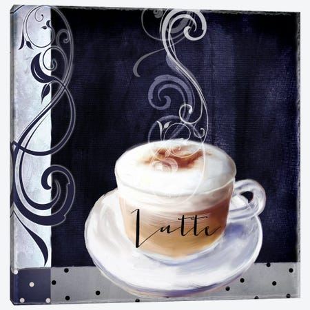 Cafe Blue II Canvas Print #CBY208} by Color Bakery Canvas Artwork