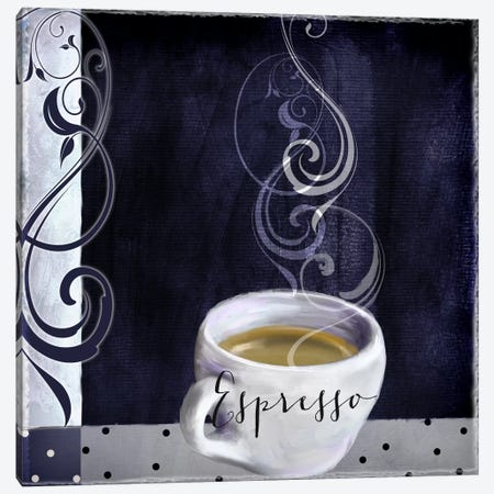 Cafe Blue IV Canvas Print #CBY210} by Color Bakery Art Print