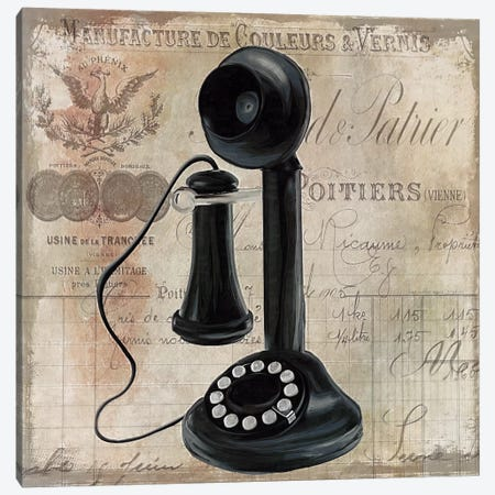 Call Waiting I Canvas Print #CBY218} by Color Bakery Canvas Art Print