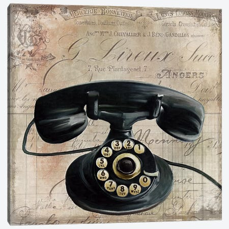 Call Waiting II Canvas Print #CBY219} by Color Bakery Art Print