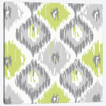 Calyx Ikat Canvas Print #CBY220} by Color Bakery Canvas Wall Art
