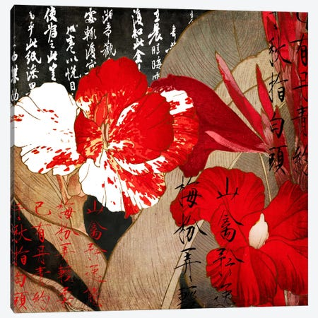 China Red I Canvas Print #CBY237} by Color Bakery Canvas Artwork