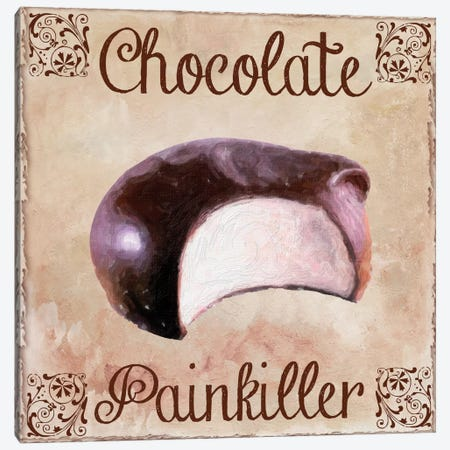 Chocolate Therapy I Canvas Print #CBY241} by Color Bakery Canvas Artwork