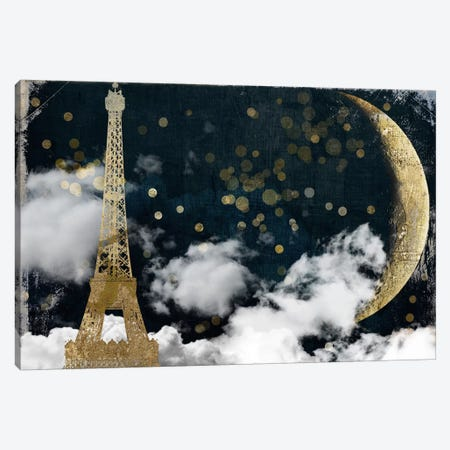 Cloud Cities Paris Canvas Print #CBY255} by Color Bakery Canvas Artwork