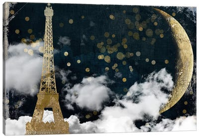 Cloud Cities Paris Canvas Art Print