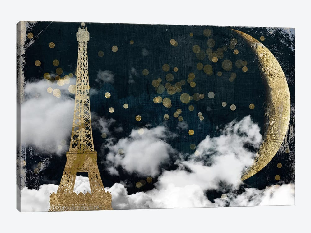 Cloud Cities Paris 1-piece Canvas Art Print