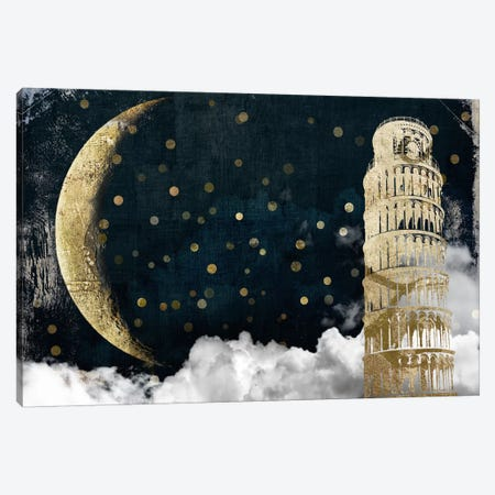 Cloud Cities Pisa Canvas Print #CBY256} by Color Bakery Canvas Art