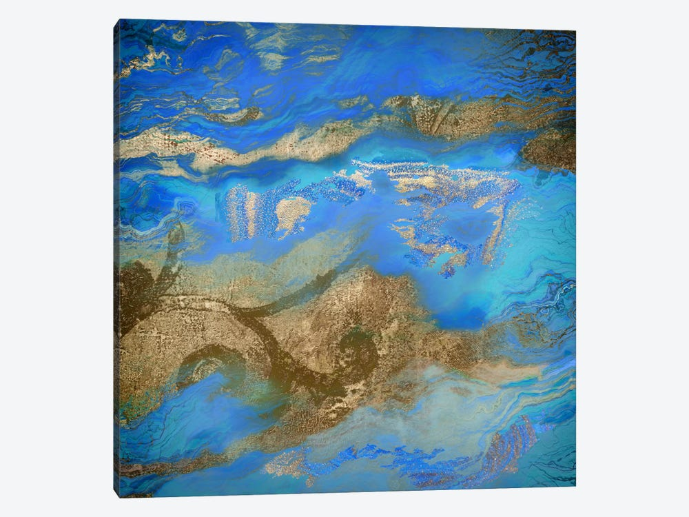 Cobalt Sea by Color Bakery 1-piece Canvas Art Print