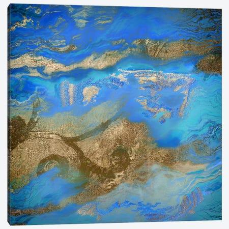 Cobalt Sea Canvas Print #CBY257} by Color Bakery Canvas Wall Art