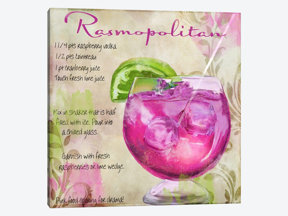 Cocktail Quartet I 1-piece Canvas Artwork