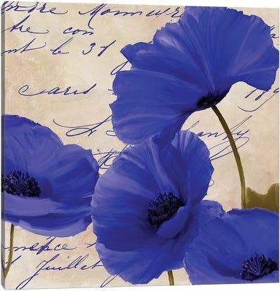Coquelicots Bleues I Canvas Art Print