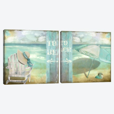 By The Sea Diptych Canvas Print Set #CBY2HSET015} by Color Bakery Canvas Print