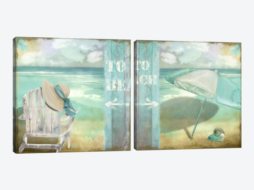 By The Sea Diptych by Color Bakery 2-piece Canvas Art