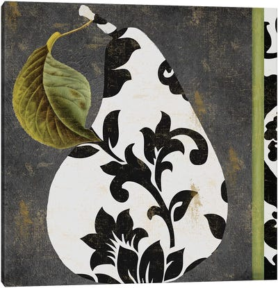 Decorative Pear I Canvas Art Print