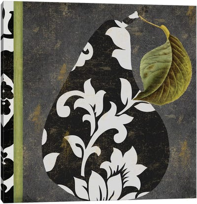 Decorative Pear II Canvas Art Print