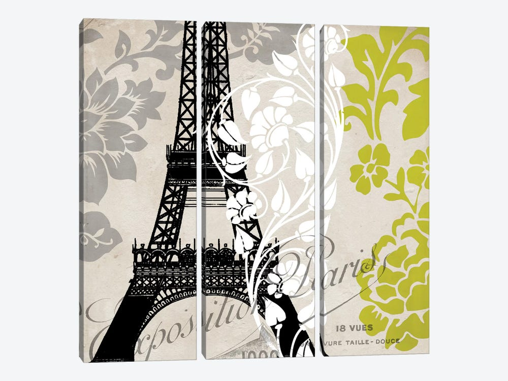 Exposition Paris by Color Bakery 3-piece Canvas Art