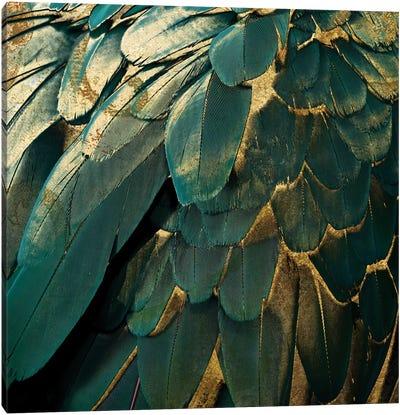 Feather Glitter Canvas Art Print