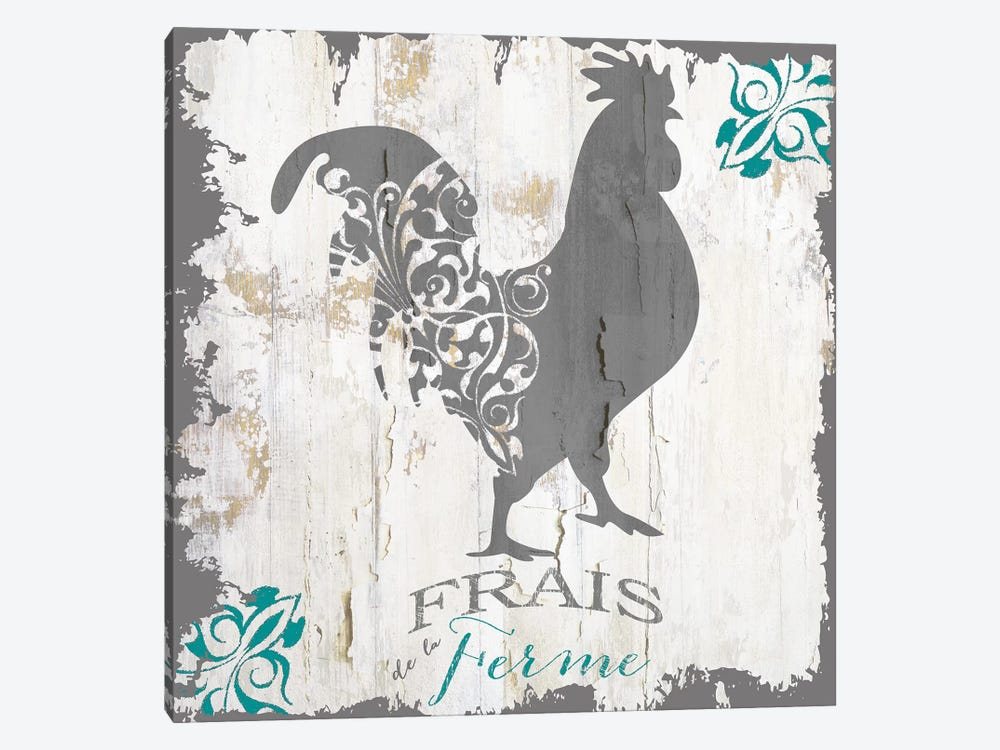 Ferme Teal I by Color Bakery 1-piece Art Print